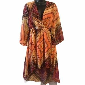 NWT Umgee Hi-Low dress Sz M Beautiful fall dress